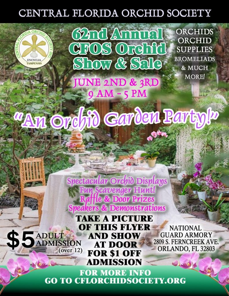 Central Florida Orchid Society Orchid Show and Sale