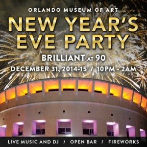 Brilliant at 90 New Year's Eve Party The Orlando Museum of Art's First Ever New Year's Eve Party